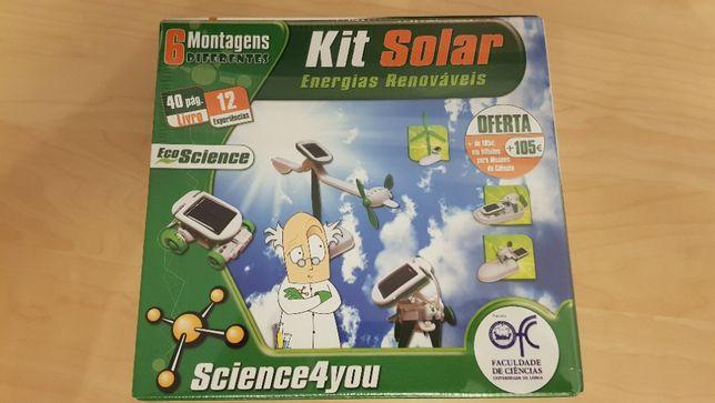 Kit Solar Energias renováveis Science4you NOVO e SELADO