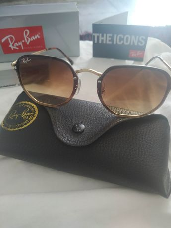 Oculos  Sol Rayban Hexagonais Blaze 3579 várias Cores