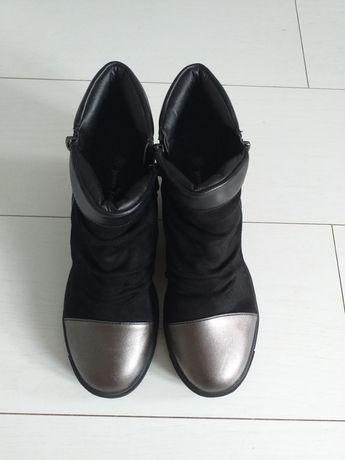 Zimowe Nowe Buty na koturnie