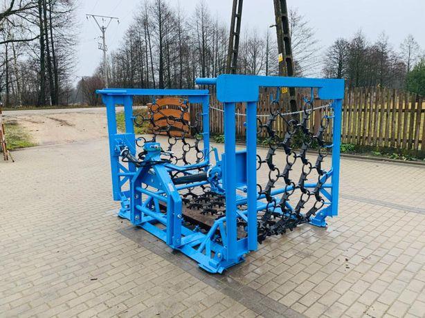 Włoka łąkowa INTER-TECH 5m/ 2 silowniki