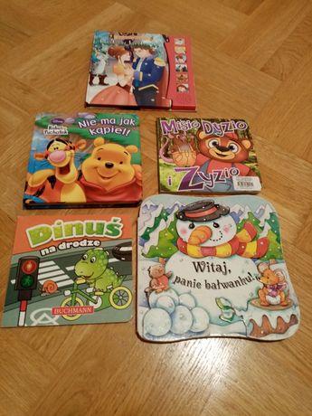 Książki dla najmłodszych 5 sztuk.