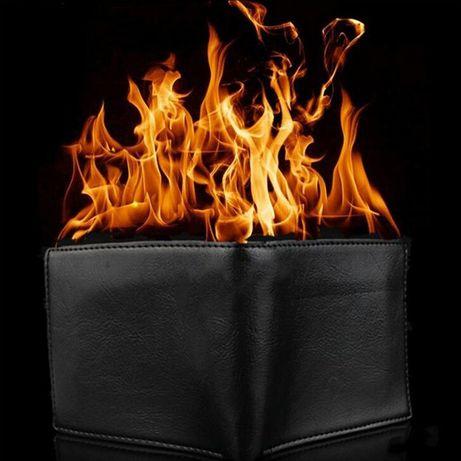 Magiczny płonacy portfel