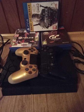 Konsola PS4 2Pady+5gier