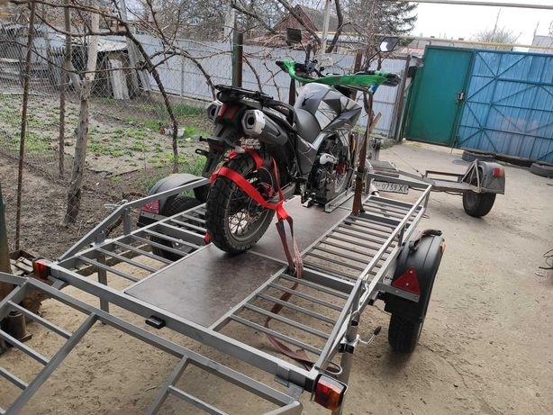 Спец-прицеп лафе для перевозки мототехники мотоциклов мото квадроцикл