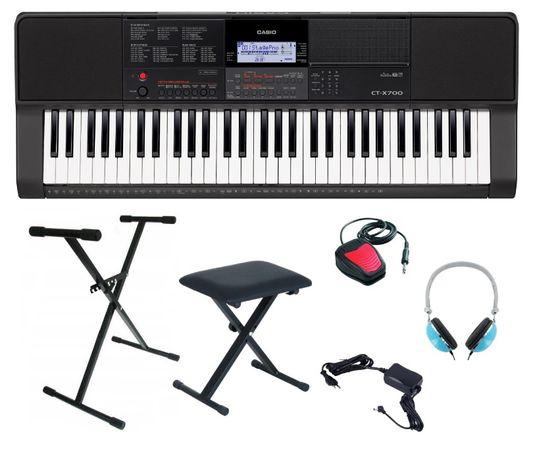 Keyboard Casio CT X700 pakiet Statyw Ława Słuchawki Sustain