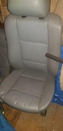 Wnętrze bmw e46 coupe szara skóra 2 kanapy fotele boczki