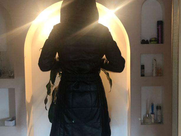 Пальто из мягкой кожи