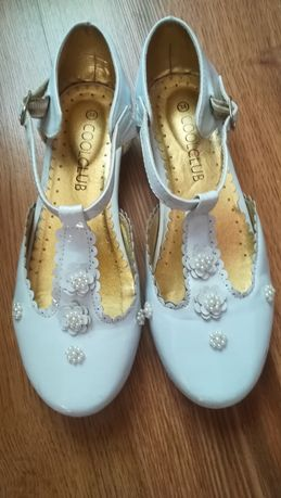 Buty białe slub, do komunii 34, komunia Coolclub