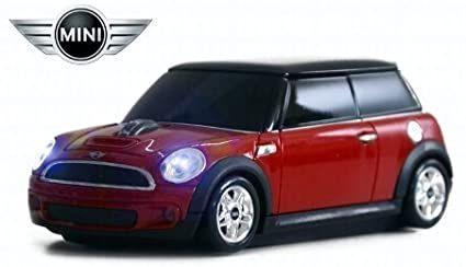 Bezprzewodowa mysz komputerowa Landmice Mini Cooper S - czerwona