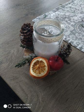 Stroik świąteczny z świeczka