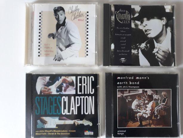 Płyty CD: Marla Glen, Chubby Checker, Eric Clapton, Manfred Mann's ...