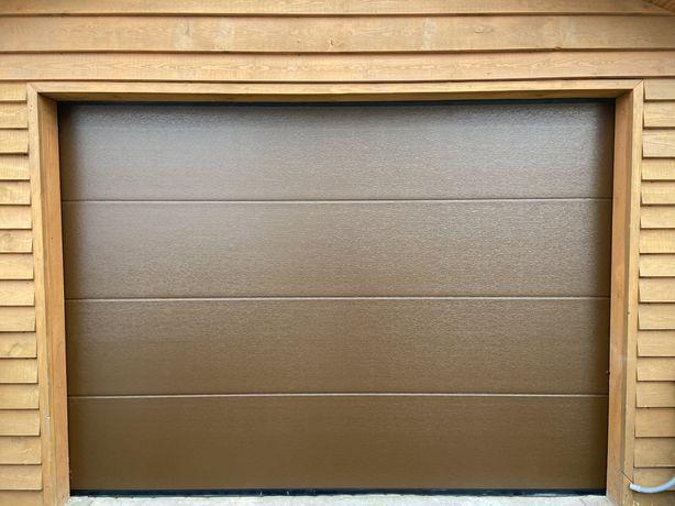 Brama garażowa segmentowa brązowa biała ocieplana 40mm