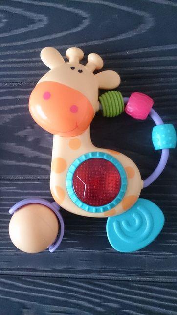 Grzechotka zabawka grająca żyrafa 6 miesięcy