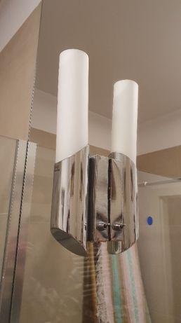 Komplet / lamp kinkietów (2 szt) srebrne, oświetlenie