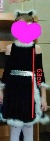 Прокат красивого платья кошки на 7-8 лет