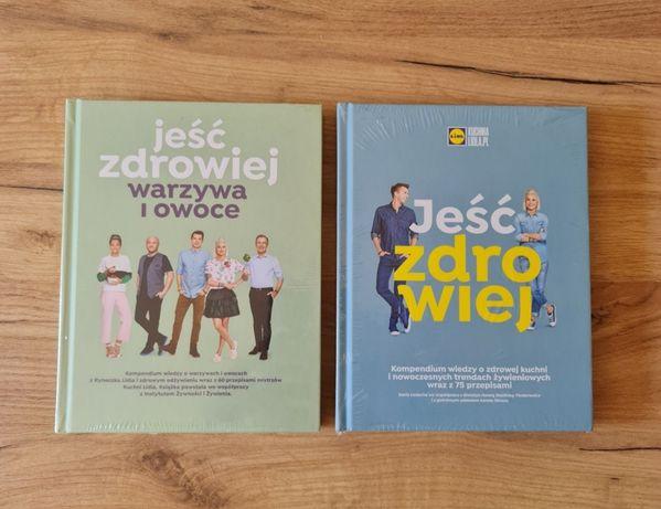2 książki Lidl Jeść Zdrowiej Kuchnia Lidla zafoliowane nowe