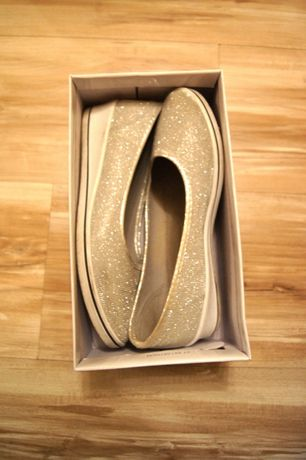 39 szare srebrne brokatowe buty tenisowki trampki baletki balerinki