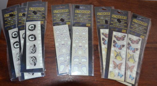 Stickers Fosforescentes (brilham no escuro)-Borboletas+Pegadas+Olhos