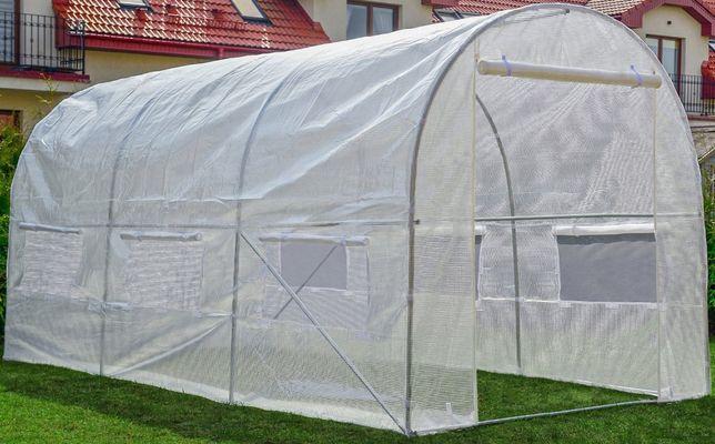 Tunel foliowy Biały Szklarnia z oknami - 10m2 = 400x250x200cm. Nowa
