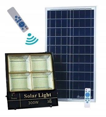 Lampa solarna 300W 660 Led z pilotem HX-1379