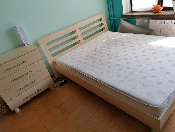 Zestaw Łóżko sypialniane 160x200 sypialnia plus komoda z 4 szufladami