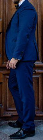 Garnitur ślubny, smoking Lancerto Lincoln NAVY, 176/112/92 + koszula