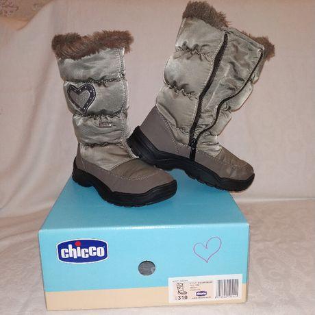 Продам детские сапожки Chicco на меху,размер 31,made in Romania.