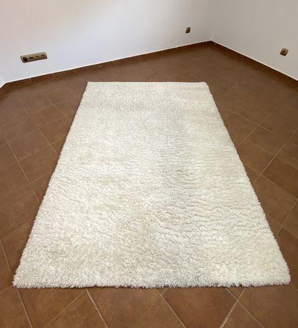 Dywan Shaggy FLOKO ZOLA 220x160cm Kremowy Biały
