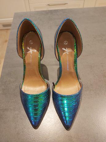 Szpilki buty na szpilce 39, holo, holograficzne, tęczowe