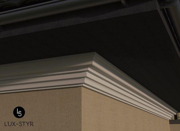 Gzyms pod dach, listwa elewacyjna, sztukateria, producent, elewacja