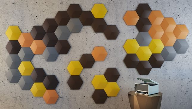 Panel Studio Panele ścienne 3d Płytki gipsowe 3d Heksagon Sześciokąt