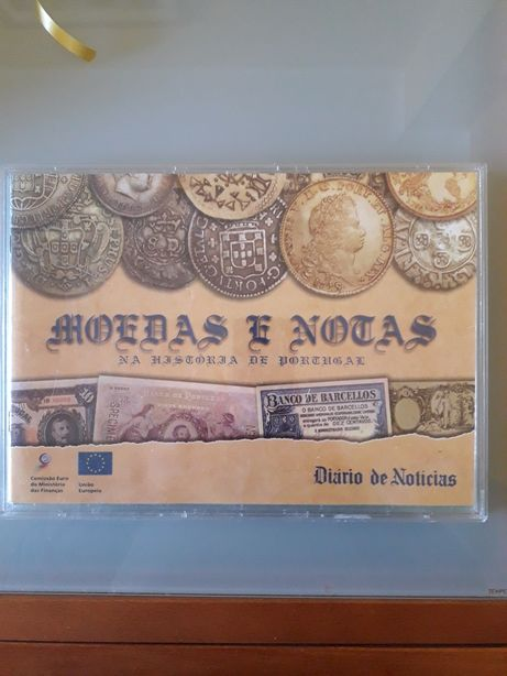 Réplica de notas e moedas antigas