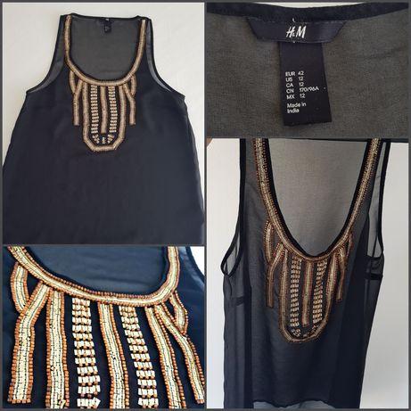 H&M bluzka prześwitująca