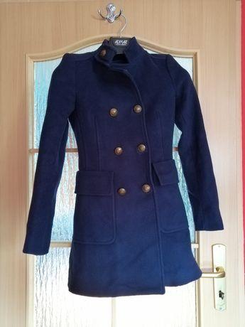 Granatowy Płaszcz Zara 34