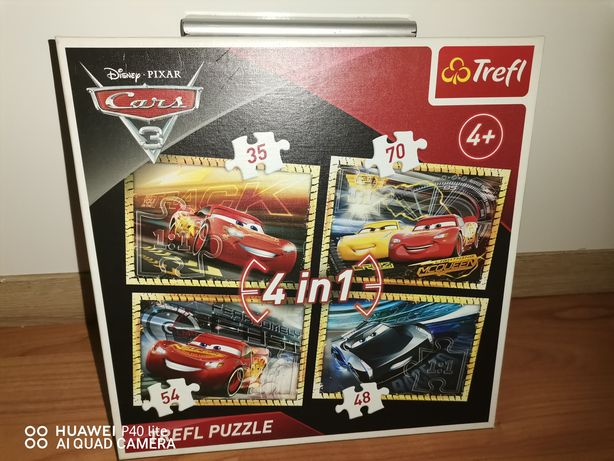 Puzzle 4w1 cars 3 TREFL
