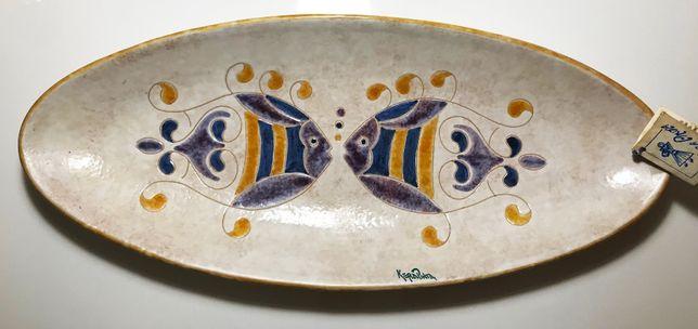 Travessa de cerâmica Italiana feita à mão