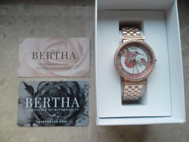 okazja! nowy zegarek Bertha różowe złoto swarovski