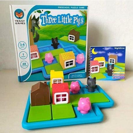 Трое маленьких поросят настольная игра-головоломка smart games аналог