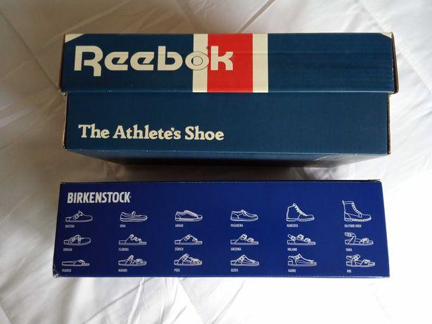 Caixas Reebok e BIRKENSTOCK