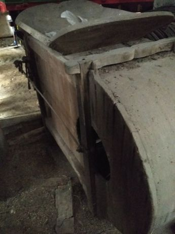 drewniana wialnia czyszczalnia do zboża antyk zabytkowa