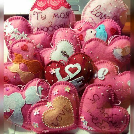 Сердечко игрушка из фетра