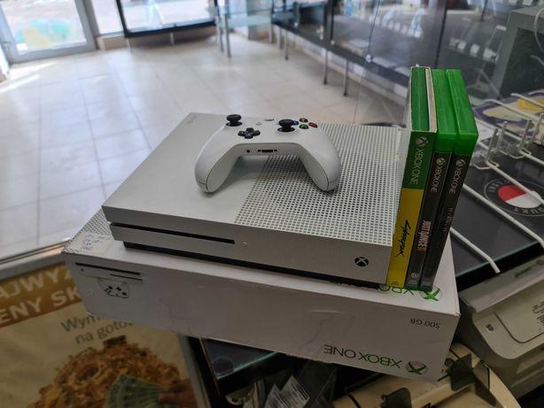 Konsola Xbox ONE S 500GB + Pad + Zasilacz + 3 gry/ Gdynia