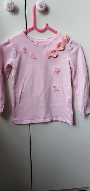 Bluzka długi rękaw pastelowy cukierkowy róż 5 10 15 max & mia r.110