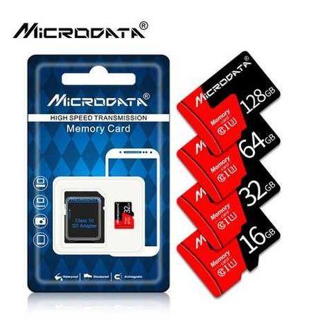 карта памяти microsd 32 ГБ класс 10 с адаптером Microdata