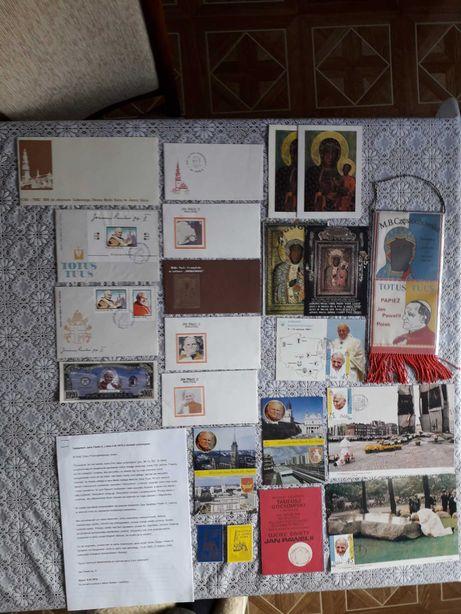 Jan Paweł II  koperty, pamiątki