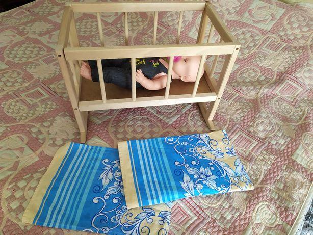 Деревянная кроватка для куклы, пупса Беби Борн