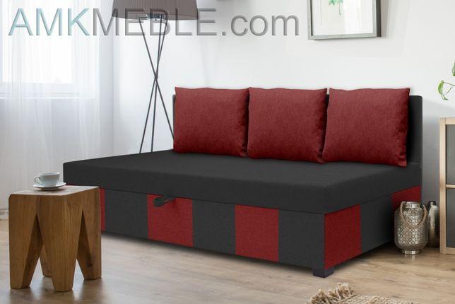 Tapczan hotelowy łóżko pojedyncze młodzieżowe materac+pojemnik Nowość