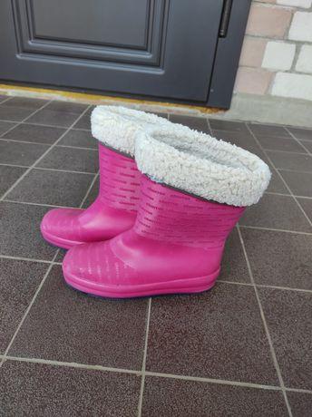Резиновые сапоги для девочки на меху