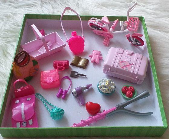 Mega paka gadżetów dla Barbie. Koń, buty, torebki, rower itd.