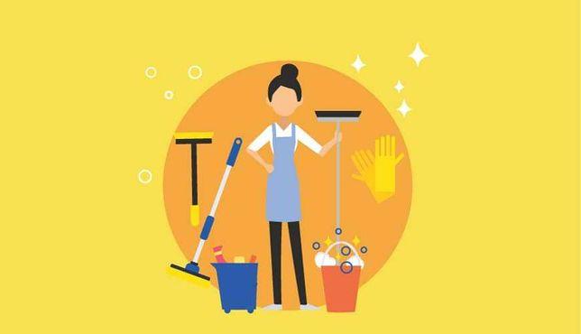 Limpezas domésticas e cuidadora de pessoas idosas (certificada).